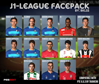 PES 2017 J1 League Facepack by Mirukuu