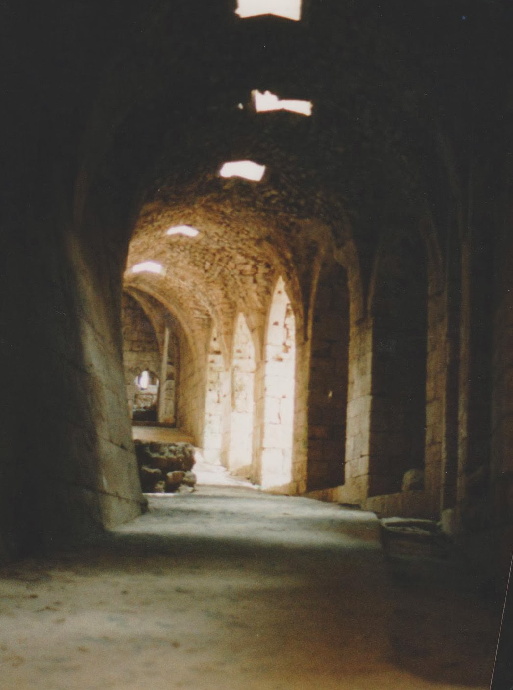 Interior of Krak de Chevaliers