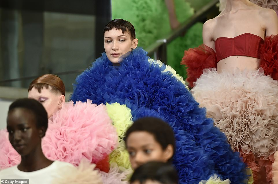 Bella Hadid - New York Fashion Week Autumn/Winter 2019 Tomo Koizumi Show