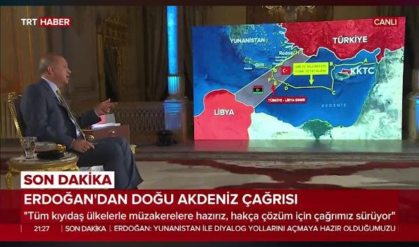 Γεωτρήσεις ανοιχτά της Κρήτης προανήγγειλε ο Ερντογάν!