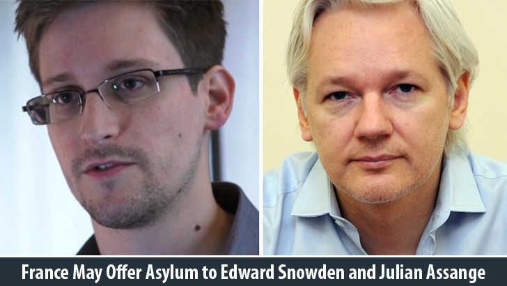 France May Offer Asylum to Edward Snowden and Julian Assange