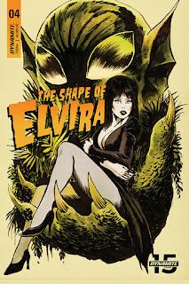 Cover A for The Shape of Elvira #4 from Dynamite Entertainment