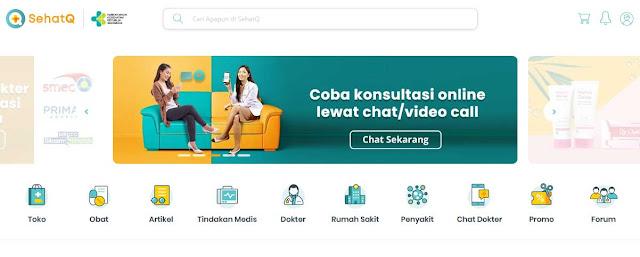 Review Situs dan Aplikasi SehatQ - WandiWeb
