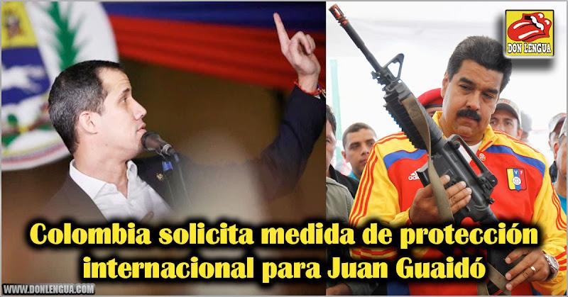 Colombia solicita medida de protección internacional para Juan Guaidó
