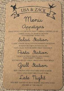 Carta restaurante impresa
