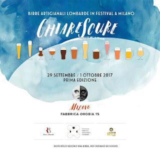 ChiareScure festival birre artigianali Lombarde dal 29 settembre all'1 ottobre Milano