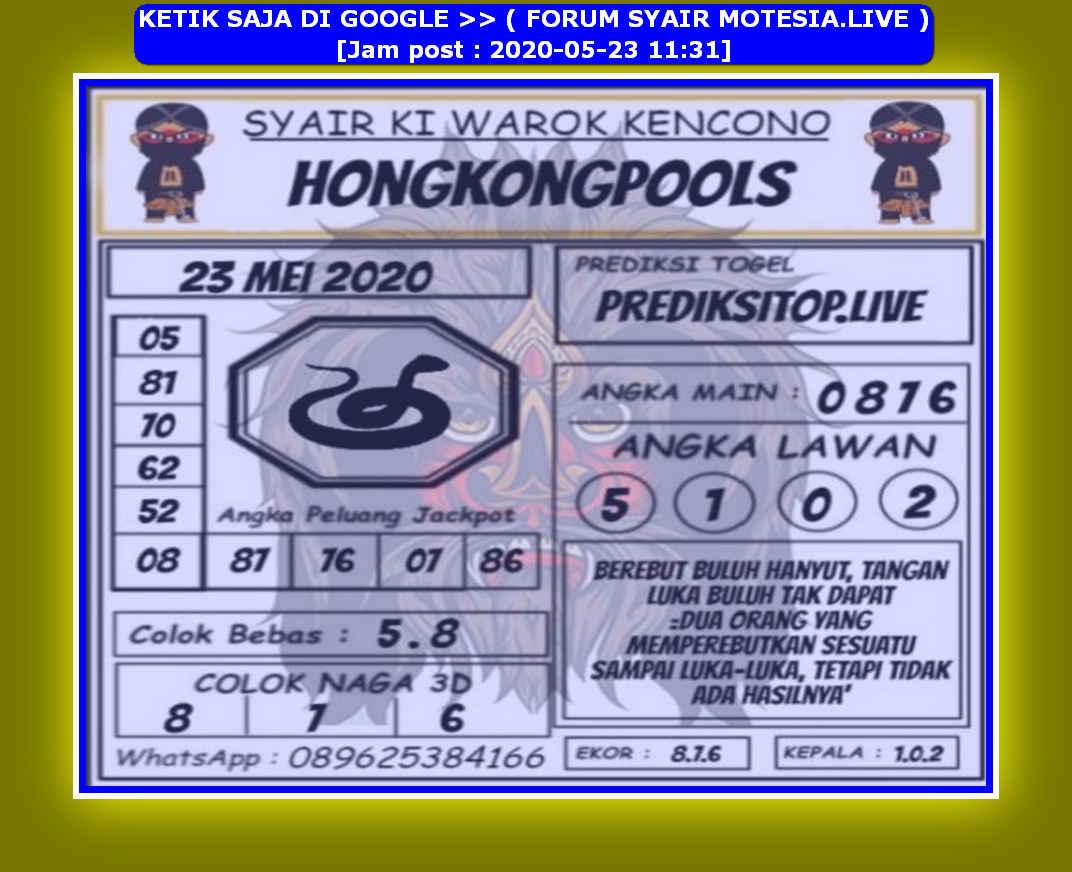 Kode syair Hongkong Sabtu 23 Mei 2020 142