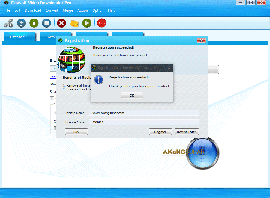 Download Bigasoft Video Downloader Pro 3 Final Full serial Number full patch full keygen full crack full activation key