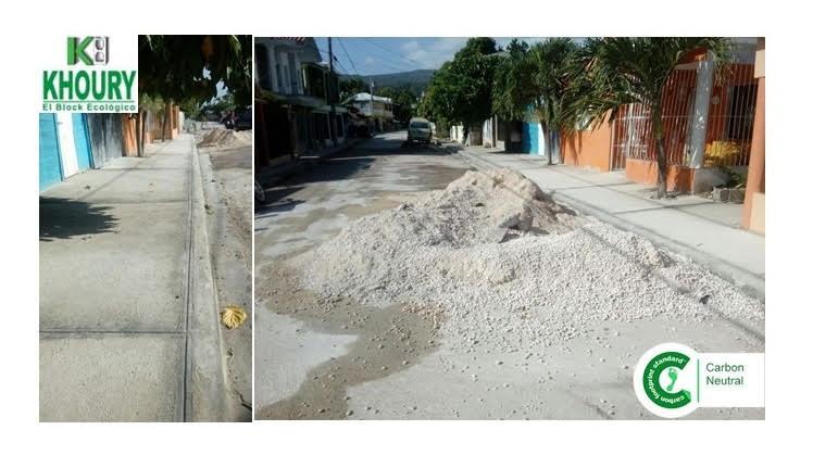 Khoury Industrial contribuye a reconstrucción de aceras y contenes del sector Palmarito