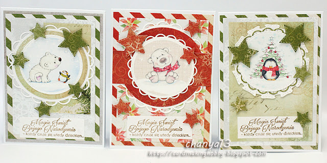 354. Świąteczne trio – kartki ze zwierzątkami