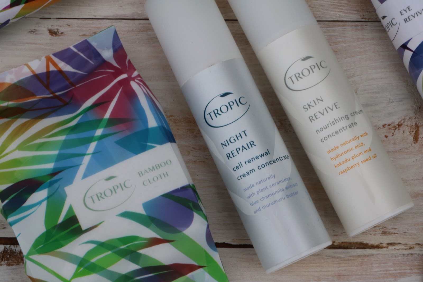 Tropic Products - Bamboo Cloth, Night Repair & Skin Repair