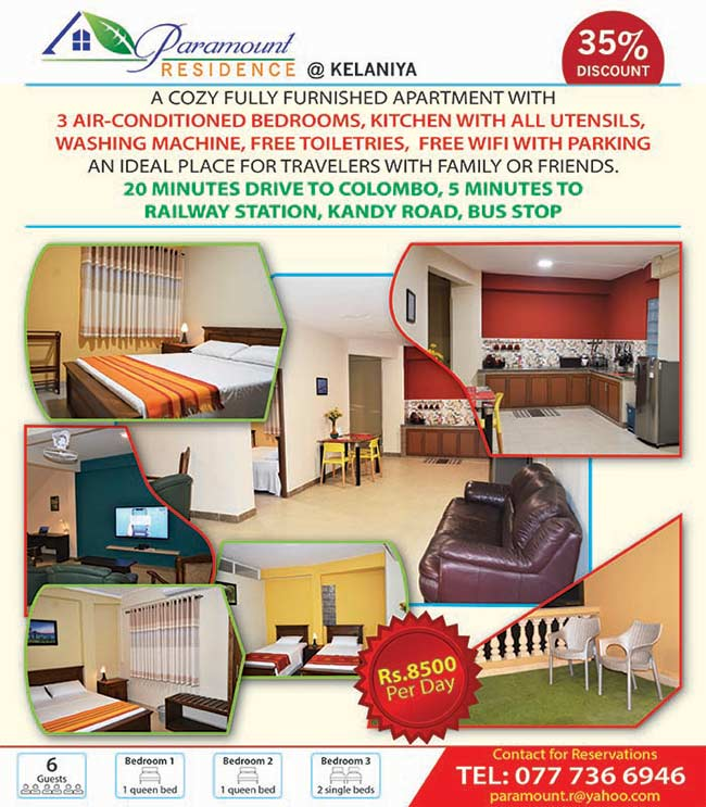 Paramount Residence - Kelaniya | Fully furnished Apartment for a short stay
