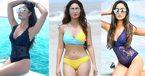 20 hot bikini photos of Tridha Choudhury - actress from Aashram and Bandish Bandits web series, Dahleez TV show.