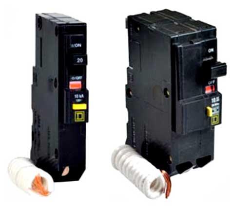 Instalaciones eléctricas residenciales - Interruptores GFCI de uno y dos espacios.