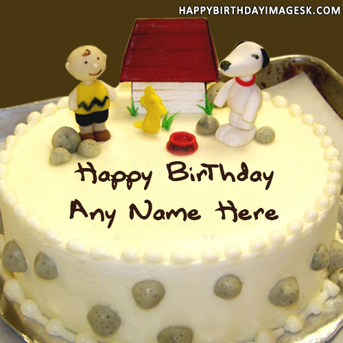 Write Name On Cake With Photo and Age