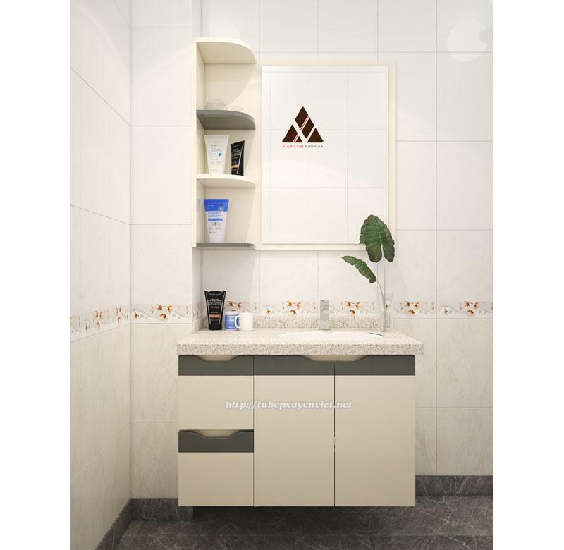 Tủ chậu lavabo đẹp chịu nước cho nhà tắm gọn gàng sạch sẽ
