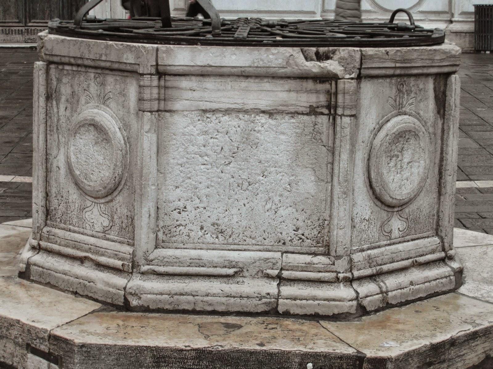Well-head (vera da pozzo) minus its leone marciana, Campo S. Toma, Venice