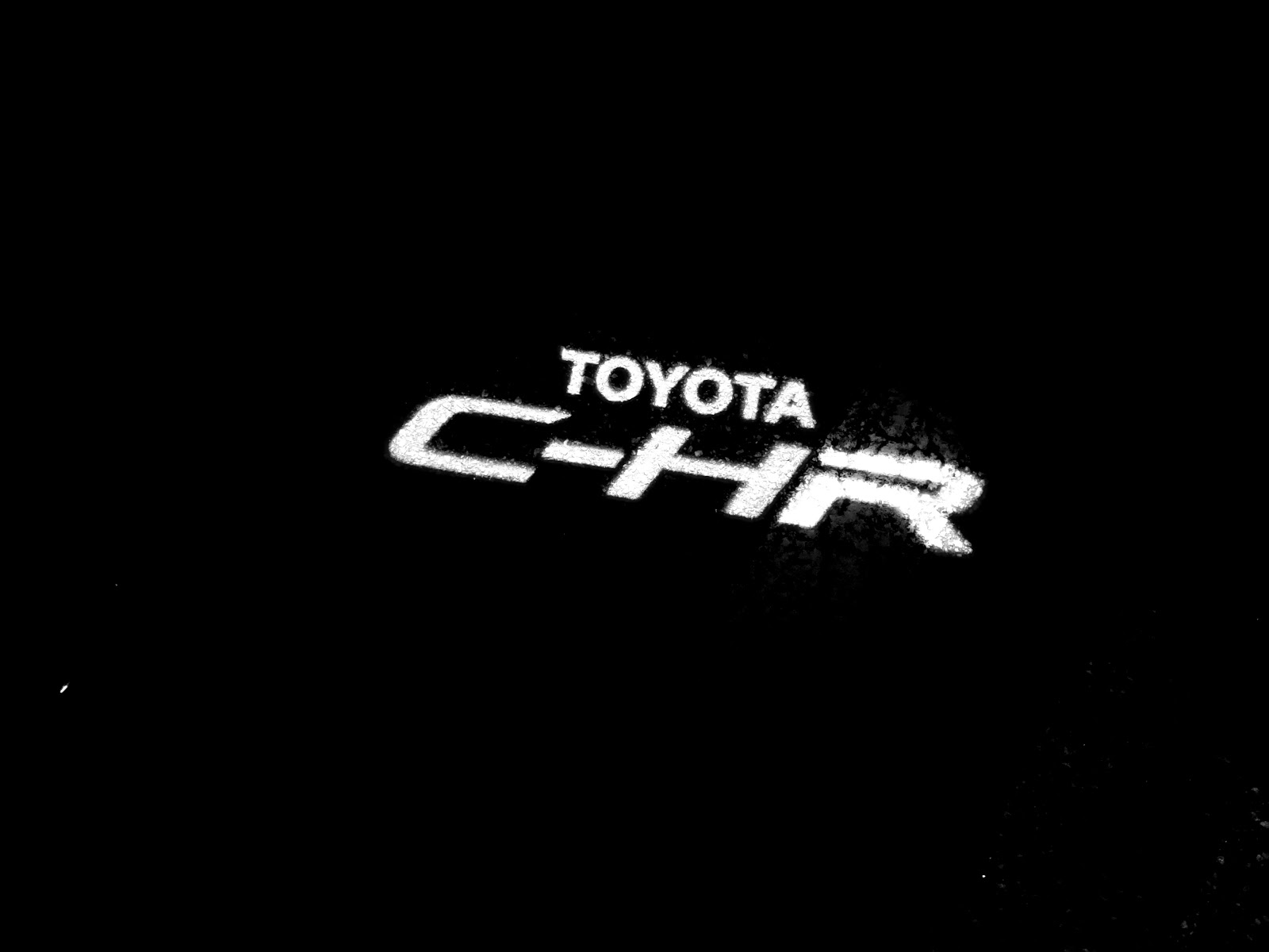 2020 Toyota C-HR Light Logo on the Ground
