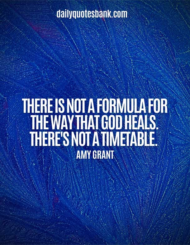 Inspirational Quotes About God Healing Power