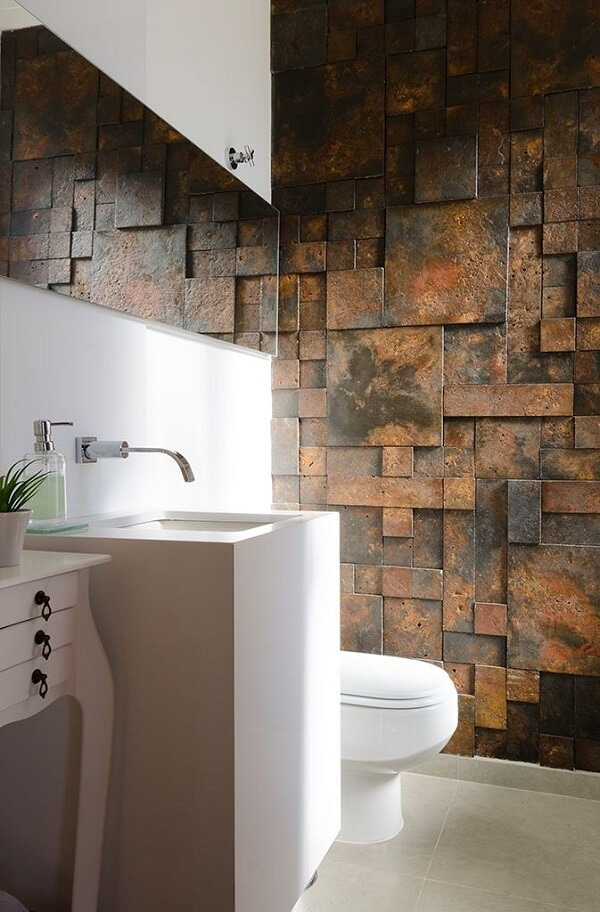 The noble finish of the 3D bathroom tile