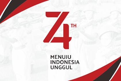 Download Logo HUT RI ke 74 Tahun 2019 Resmi - Vektor