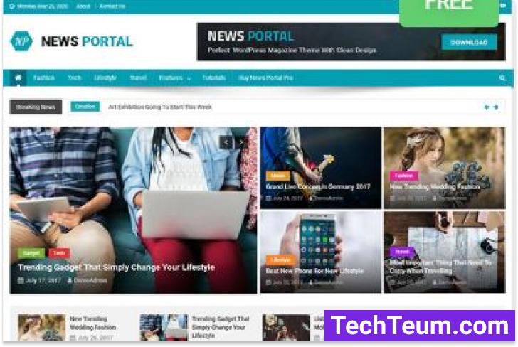 News Portal WordPress magazine theme