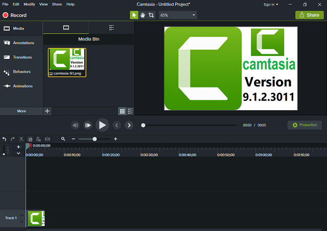 تفعيل برنامج تصوير شاشة الكمبيوتر بالفيديو Camtasia 9.1.2.3011 آخر إصدار