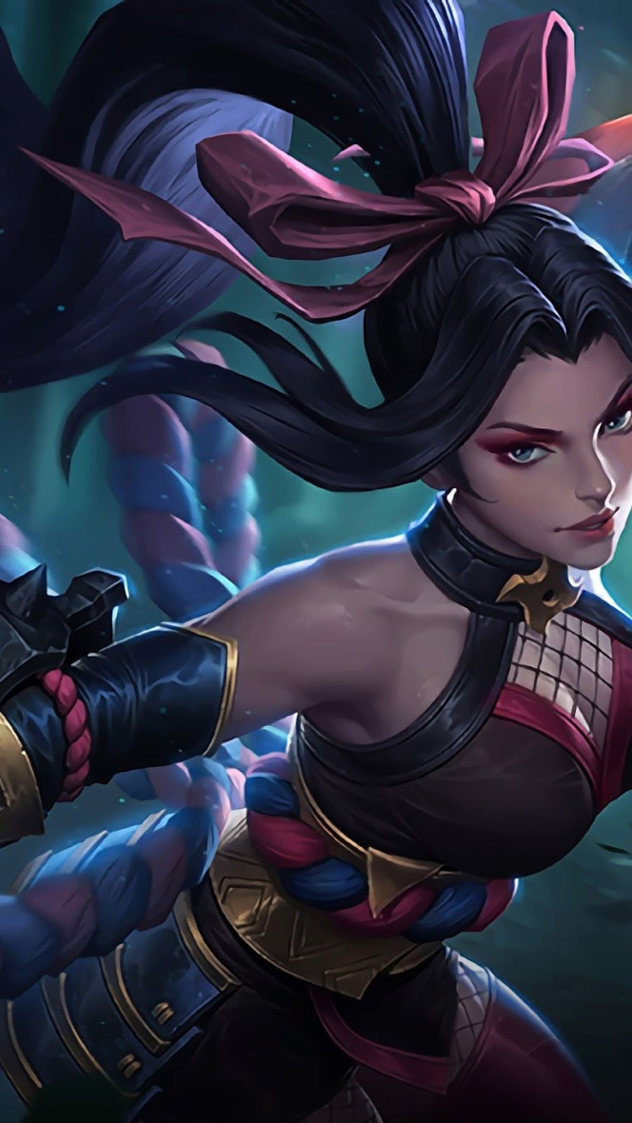 Wallpaper Hanabi Scarlet Flower Skin Mobile Legends HD for Android and iOS