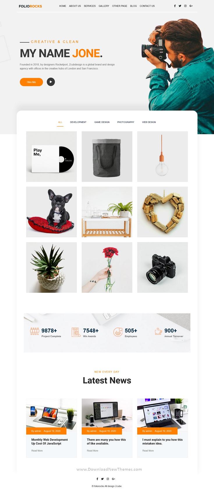 Best Minimal Portfolio WordPress Theme