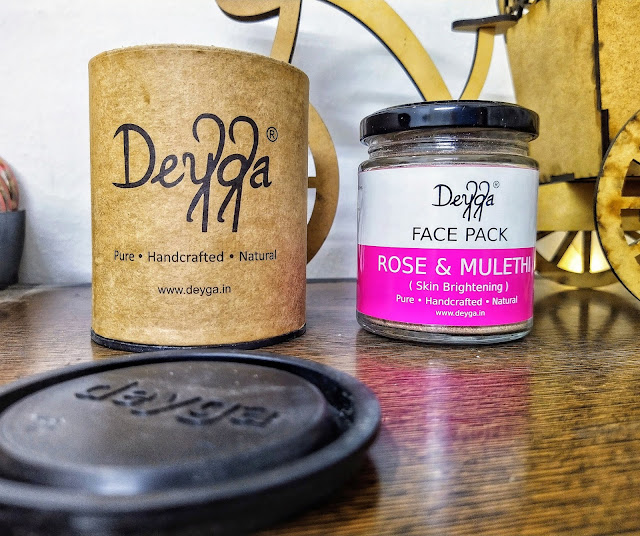 deyga rose and mulethi face pack