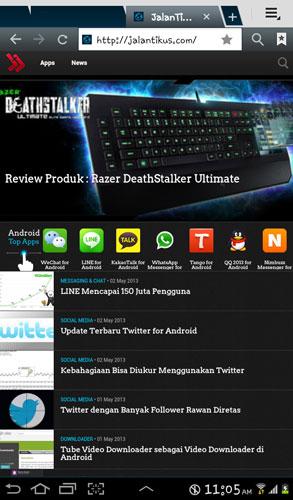 Browser PC Terbaik Pilihan Jalan Tikus Tahun 2013