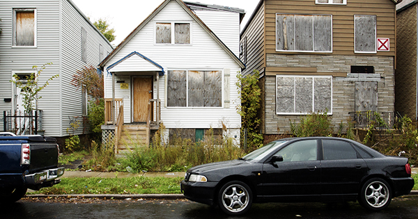 Low income neighborhood in South Chicago