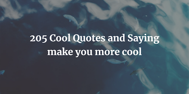 Cool Quotes and Saying