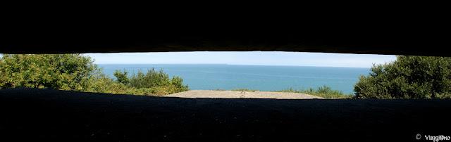 Vista dalla postazione di tiro sulle spiagge