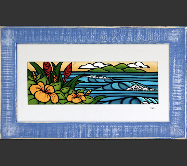 surf art with reclaimed wood by tropical artist heather brown
