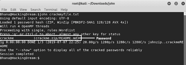 How to Brute Force a Password Protected Rar/zip file using