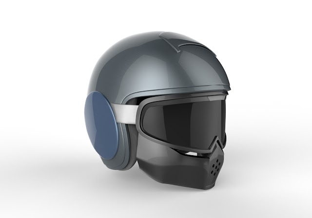 BIKER HELMET 3D MODEL FREE DOWNLOAD OBJ