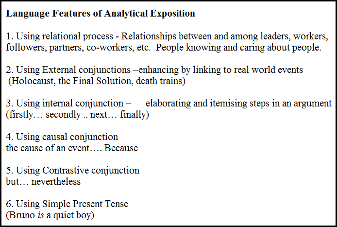 analytical exposition An analytical exposition is a type of text in which the purpose is to persuade the audience by making an argument it can be either written or spoken when written, it is often called an analytical exposition essay.