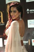 Prajna Actress in backless Cream Choli and transparent saree at IIFA Utsavam Awards 2017 0094.JPG