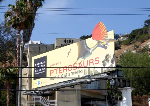 LA Natural History Museum Pterosaurs billboard