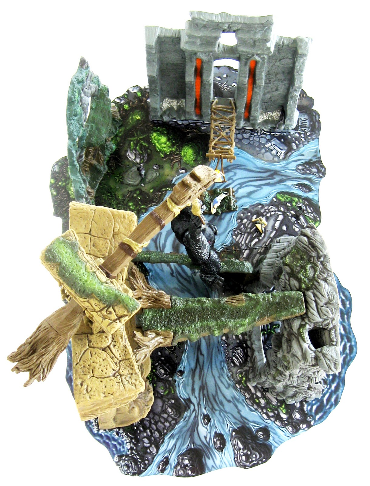 Toys And Stuff Playmates 66047 Skull Island Playset