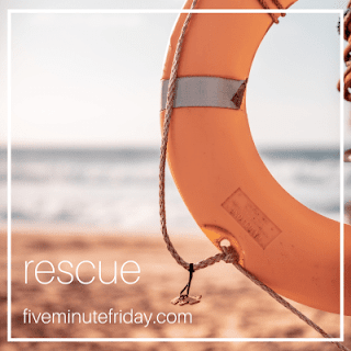 Five Minute Friday Rescue by the water