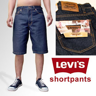 celana pendek pria biru dongker, celan levis pria, celana levis pendek
