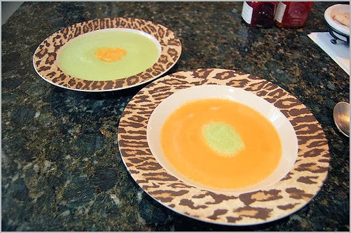 Healthy Minted-Honeydew Soup & Ginger-Cantaloupe Soup