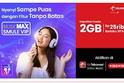 Cara membeli Paket MusicMAX Smule VIP telkomsel