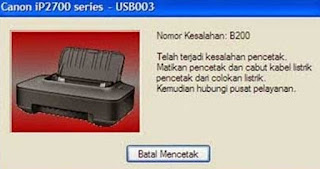 Error B200 printer ip2770