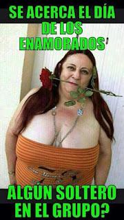 Meme San Valentín algún soltero en el grupo