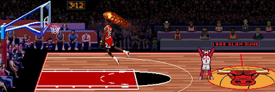 "Michael Jordan ""1988 Slam Dunk"" Chicago Bulls Giclee Print by 8Bit Lexicon x All Star Press Chicago"