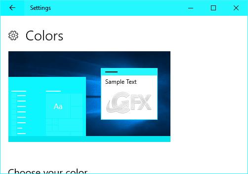 Windows 10's color