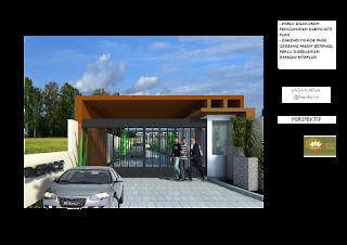 Gate gerbang kavling  perumahan